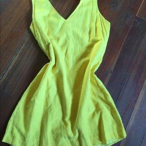 Banana Republic Yellow Linen Dress